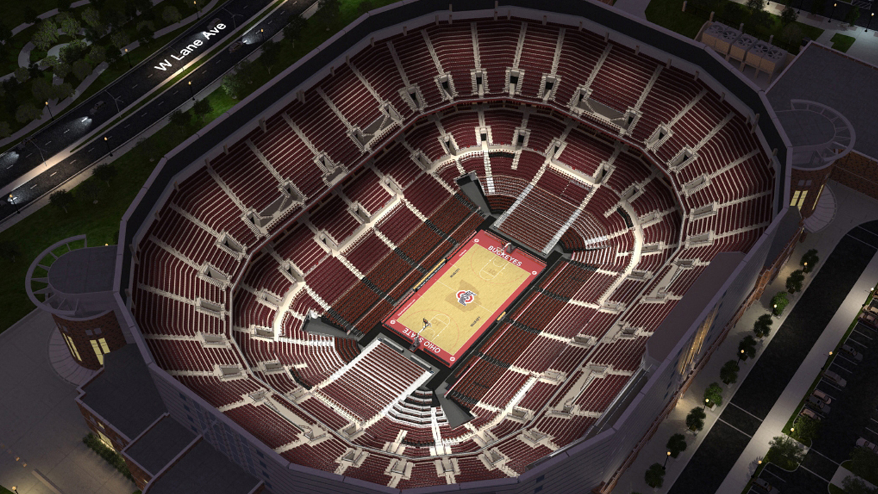 Ohio st basketball virtual venue by iomedia